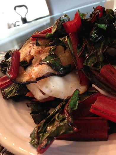 eggplant chard and ham