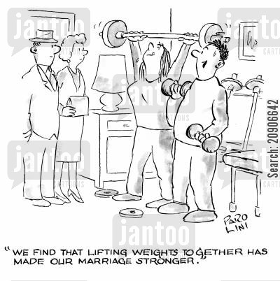 'We find that lifting weights together has made our marriage stronger.'
